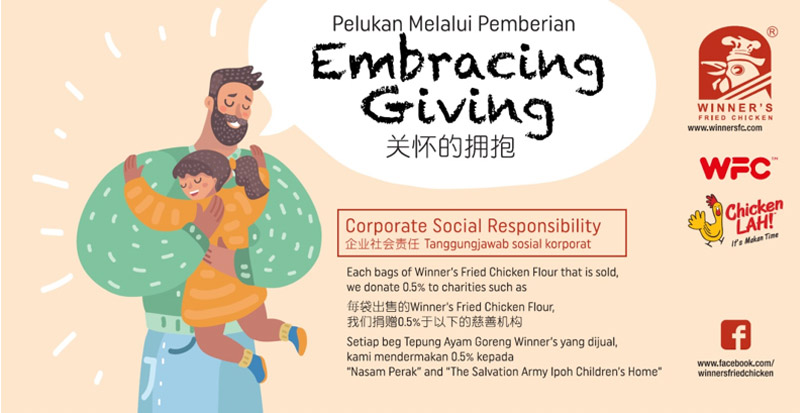 Monthly Donations to Nasam Perak & The Salvation Army Ipoh Childrens' Home